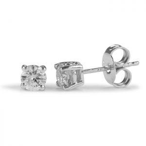 diamond studs white gold .10ct