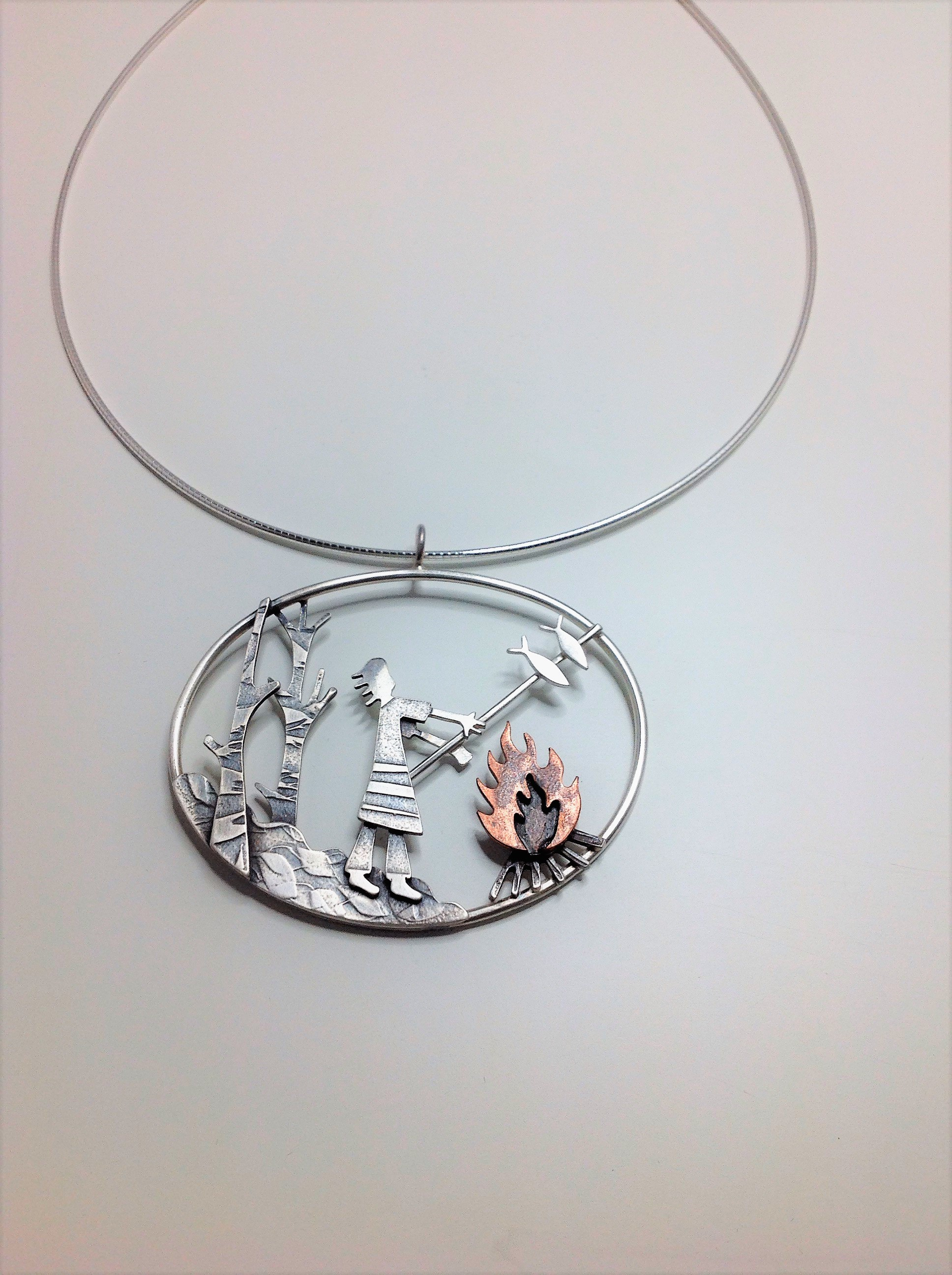 bead silver and fish product silks sri crafted sagunthalai german acrylic hand pendant with twisted necklace
