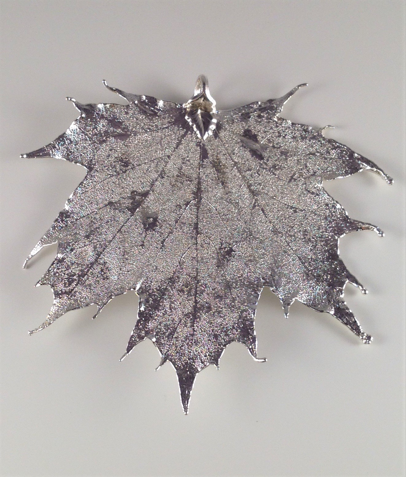 Silver finish large maple leaf pendant acorn jewellers of bakewell silver finish large maple leaf pendant aloadofball Gallery