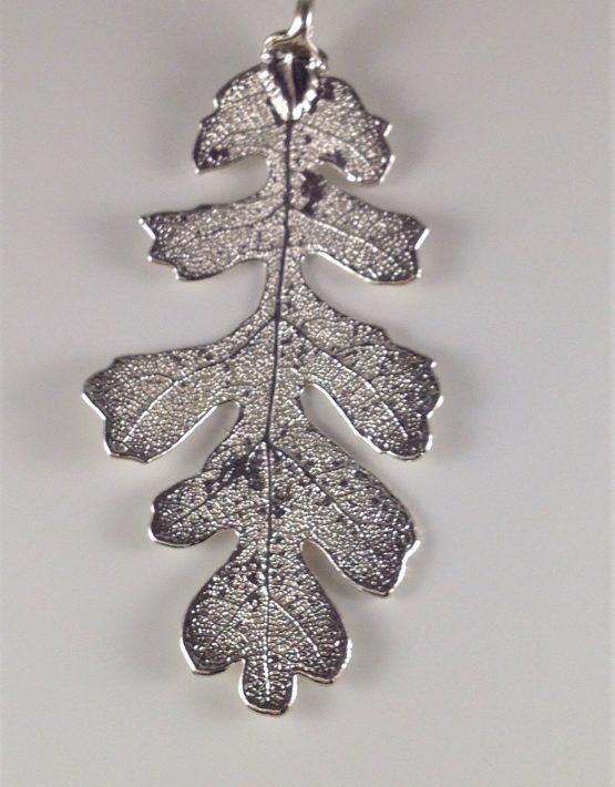 Silver finish large oak leaf pendant acorn jewellers of bakewell silver finish large oak leaf pendant aloadofball Choice Image