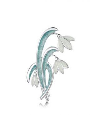 Art Nouveau Snowdrop Brooch EBX226