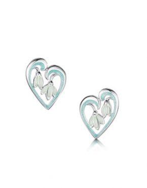 Snowdrop Heart Stud Earrings EE232