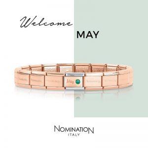 Starter Bracelet with May Birthstone