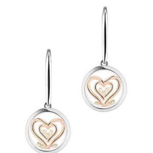 Astra Double Heart Earrings