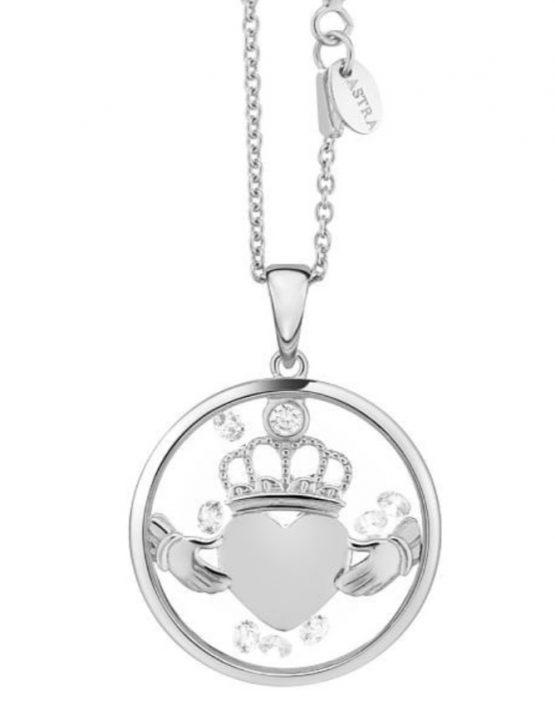 Astra Silver Claddagh Heart Pendant