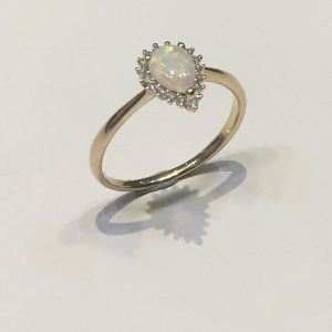 Pear Shaped Opal and Diamond Ring ACTHRD2910