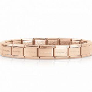 Classic Stainless Steel Rose Gold Starter Bracelet 030001/011