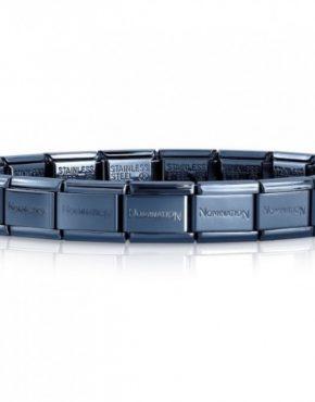 Composable Classic Starter Bracelet - 18cm - Blue Steel ~ 030001/SI/016 Code: 030001/016-18