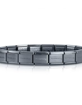 Nomination Classic Hematite Black Stainless Steel Bracelet 030001/002