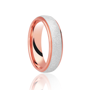 Two Colour Brushed Centre Wedding Ring