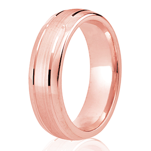 6mm Polished Edge with a Light Brushed Centre Wedding Ring