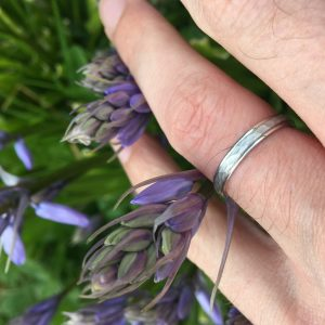 3mm Court Band with hammered centre and rolled edges Wedding Ring DC154