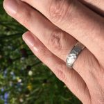 5mm Hammered Satin Centre Wedding Ring DC140