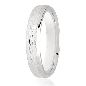 4mm Celtic Braid Design and Millgrain Edges Wedding Ring DC153