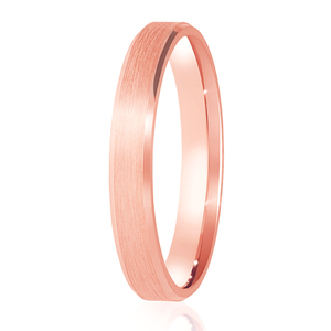 3mm Satin Finished Flat Court Band with Bevelled cut edges Wedding Ring DC163