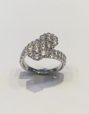 Diamond Duo Flower Ring