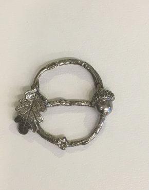 acorn and oak leaf scarf ring