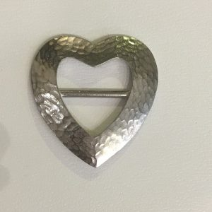 hammered heart scarf ring