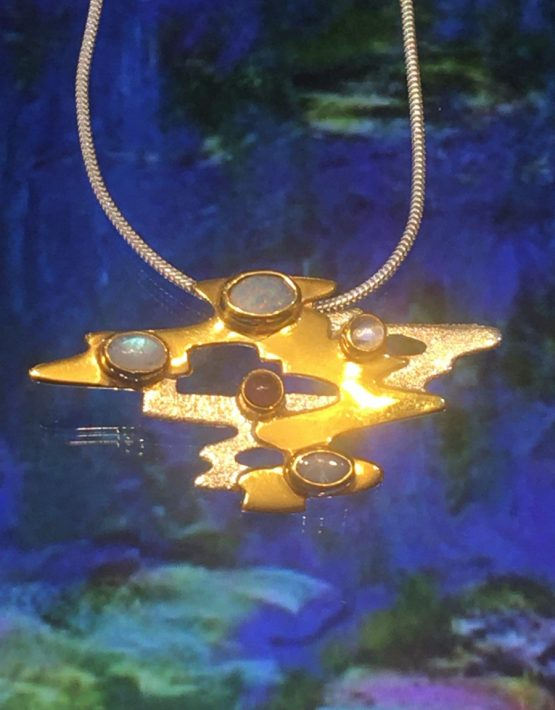 🎨 Monet Water 💦 Lillies Large Pendant