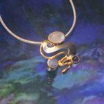 🎨 Monet Water 💦 Lillies Pendant