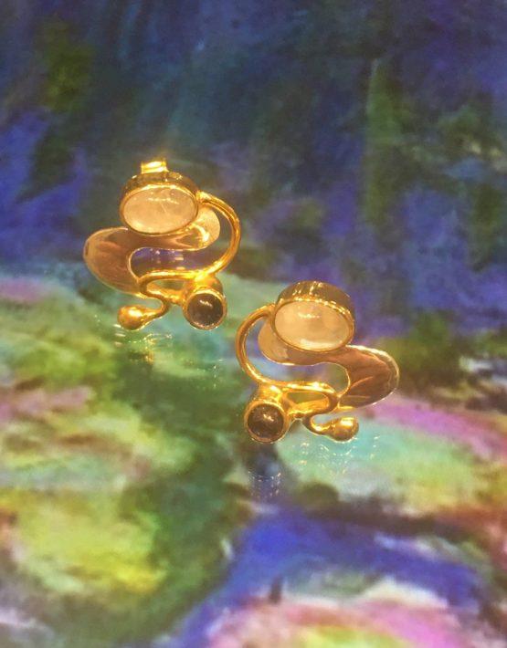 🎨 Monet Water 💦 Lillies Earrings