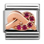 Nomination Classic Rose Gold Promises Love Charm 430302/09