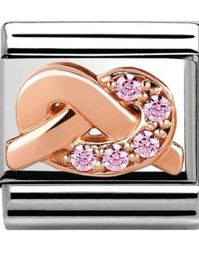 Nomination Classic Rose Gold 'Promises' Mother & Daughter Bond Charm 430302/07