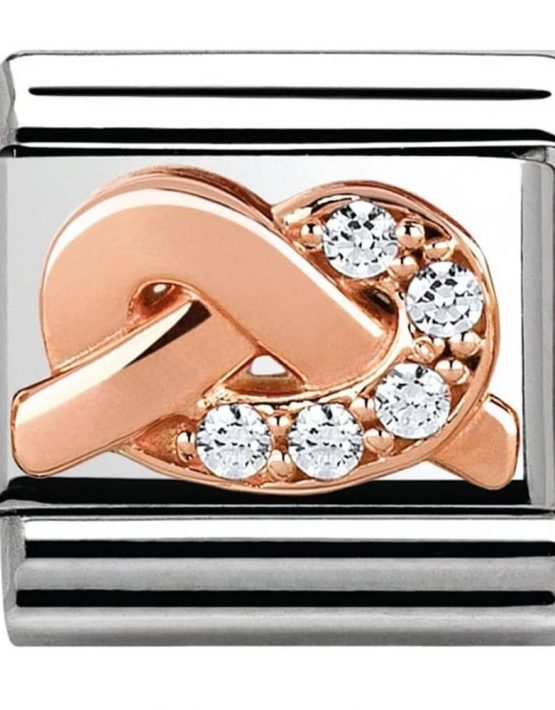 Nomination Classic Rose Gold Promises Spirituality Knot Charm 430302/06