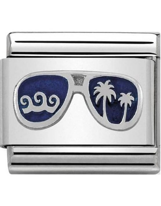 Nomination Classic Silvershine Blue Miami Sunglasses Charm 330202/48