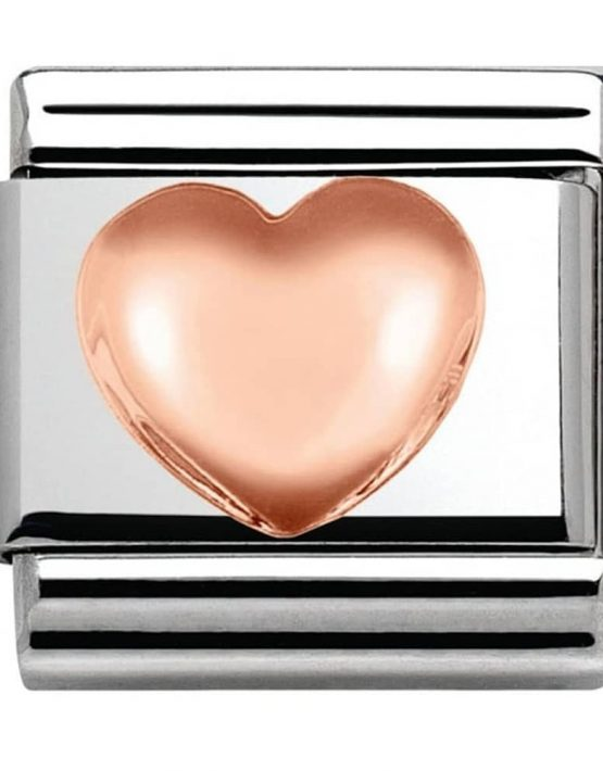 Nomination Classic Rose Gold Raised Heart Love Charm 430104/22