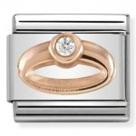 Nomination Classic Rose Gold Ring Charm 430305/04