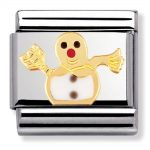 Nomination Snowman Charm. Nomination Classic Gold Charm 030225/04