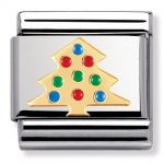 Christmas Tree Gold Charm. Nomination Classic Gold Charm 030225/03