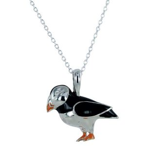 Portly Puffin Silver Pendant