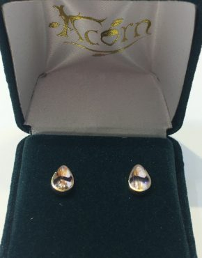 Blue John Pear Studs 9ct Gold AC9YER1300