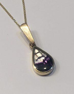 Blue John Pear Shaped Gold Pendant ACP15449Y