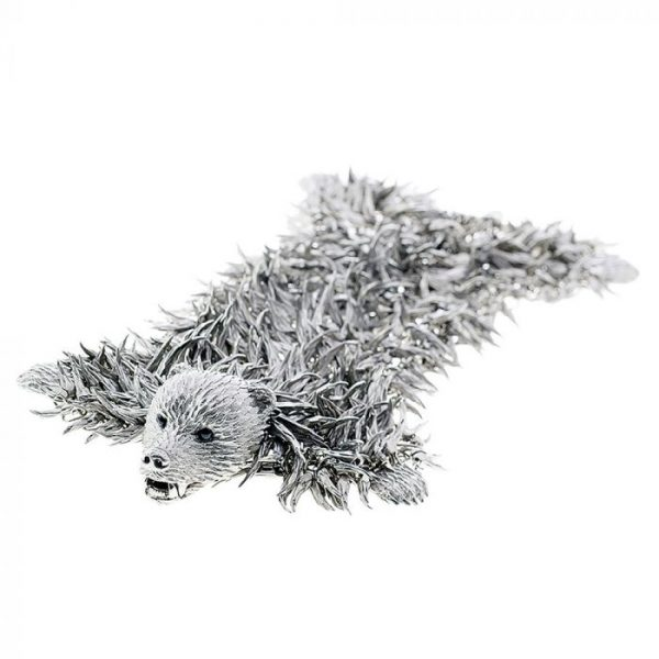 dionysus bear bracelet silver