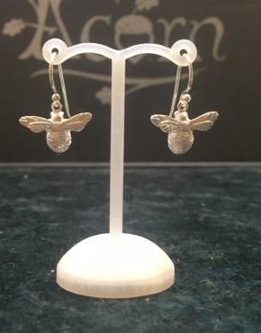 Silver Chubby Bee Drop Earrings SG2610