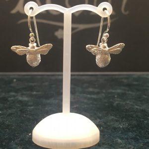 Silver Chubby Bee Drop Earrings SG2610