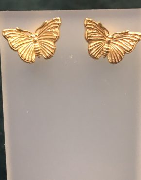 Gold Butterfly Stud Earrings SGH3777/Y