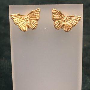 Gold Butterfly Stud Earrings SGH3777/Y