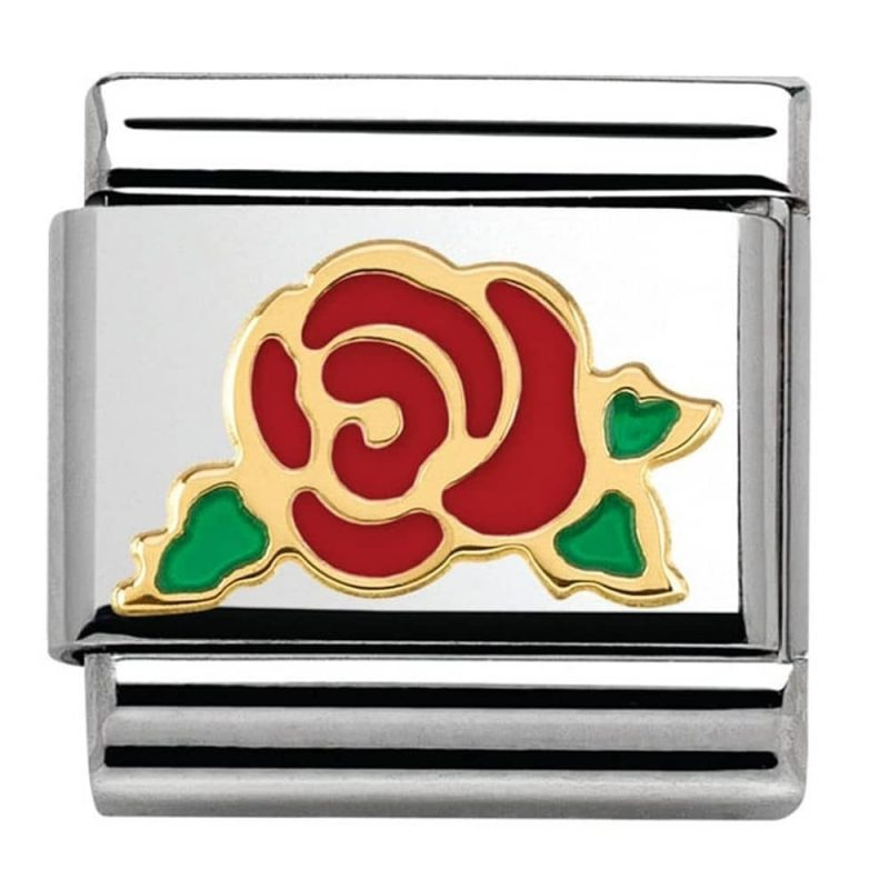 Nomination Charm. Classic Red Rose Charm 030285/30