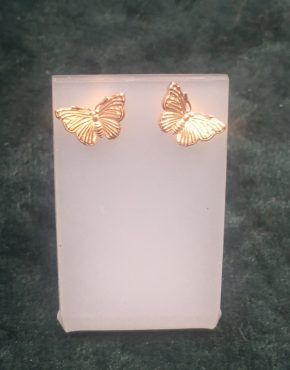 Rose Gold Butterfly Stud Earrings SGH3777/R