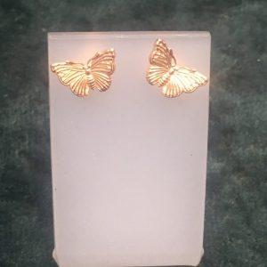 Rose Gold Butterfly Stud Earrings SGH3777/R