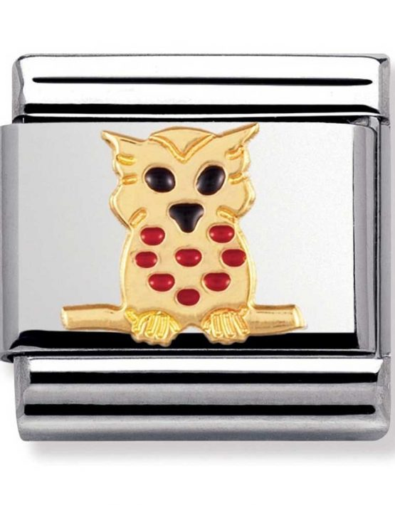 Nomination Charm. ClassicGold Owl Charm 030211/10