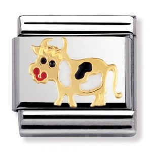 Nomination Charm. Classic Gold Cow Charm 030212/04
