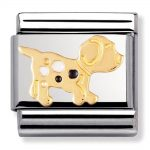 Nomination Charm. ClassicGold Spot the Dog Charm 030212/36
