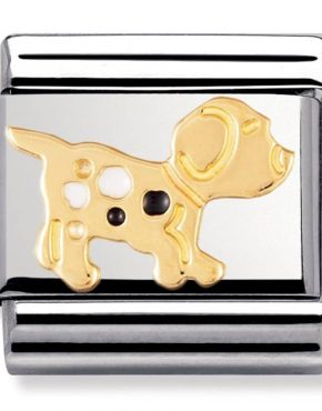 Nomination Charm. Classic Gold Spot the Dog Charm 030212/36