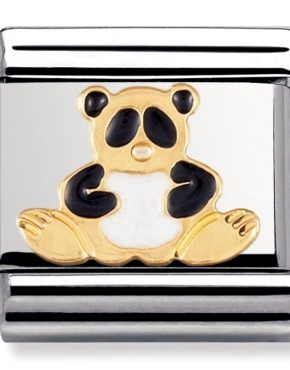 Nomination Charm. ClassicGold Panda Charm 030212/39