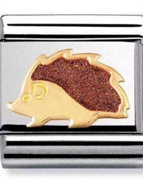 Nomination Charm. ClassicGold Hedgehog 🦔 Charm 030212/41